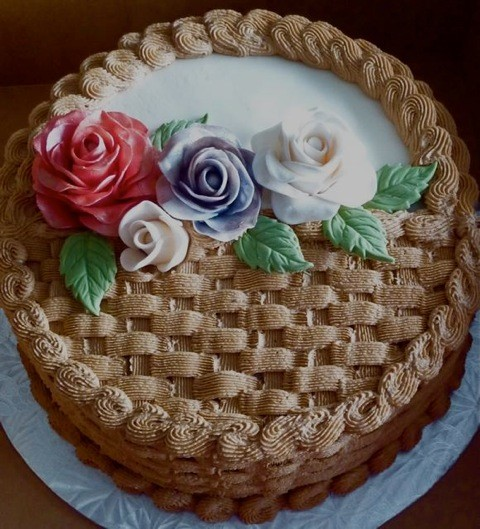 How To Make A Basket Of Flowers Cake : Gumpaste flower basket pictures tinyteens pics