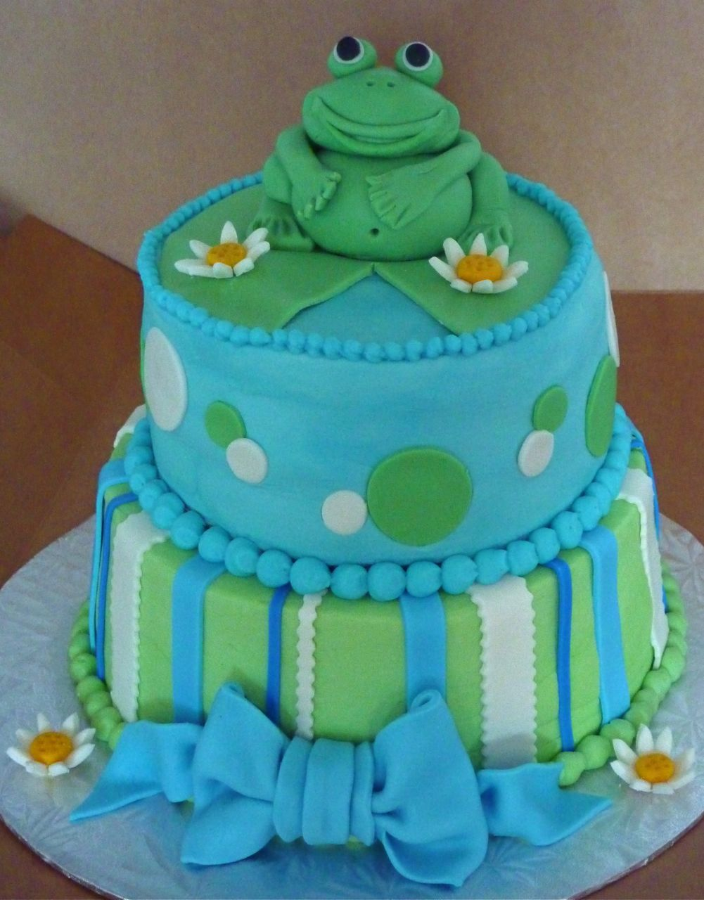 Bakery Showcase: Bakery Showcase » Celebration Cakes » Froggy Baby Shower  Cake