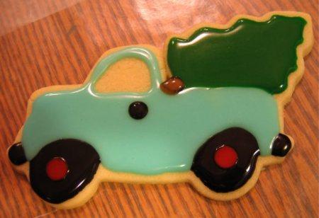 Vintage Truck Christmas Cookies